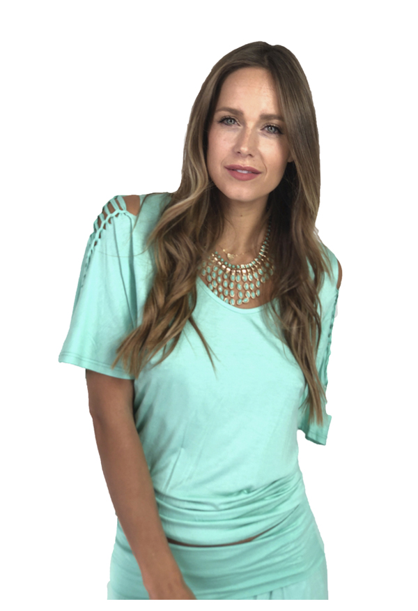 Agho Bell-sleeve Top | Mint