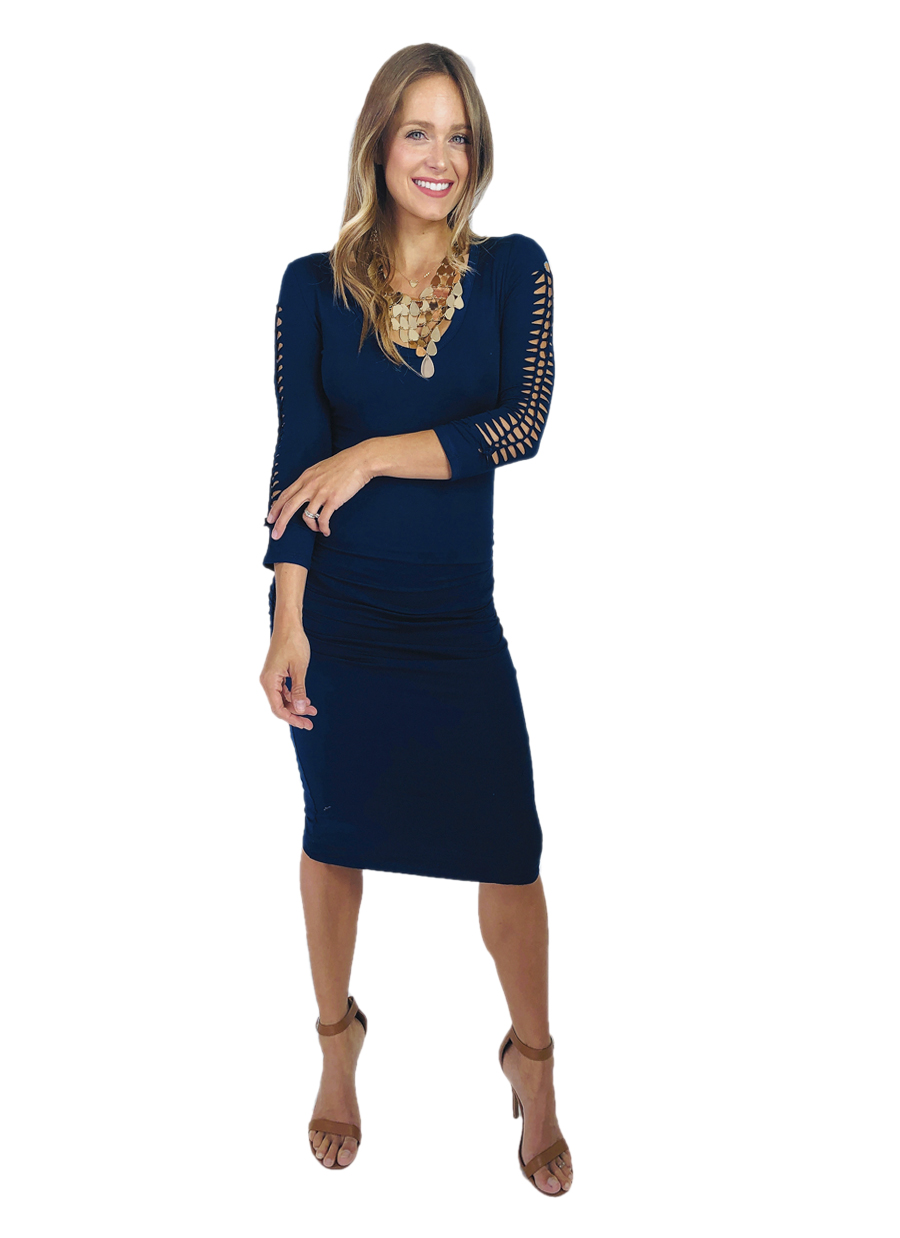 Agho Roused Dress  |  Navy