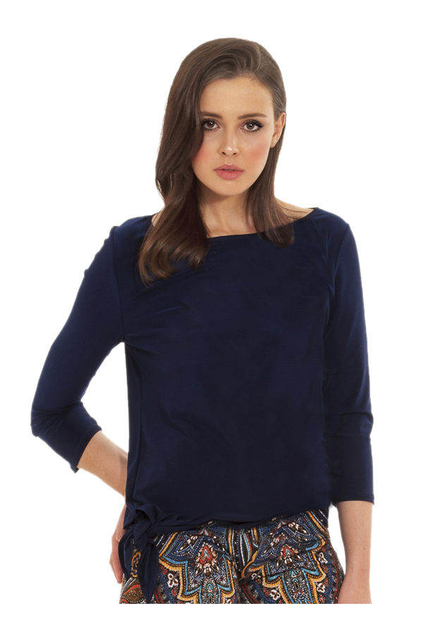 Angle Tie Top | Navy