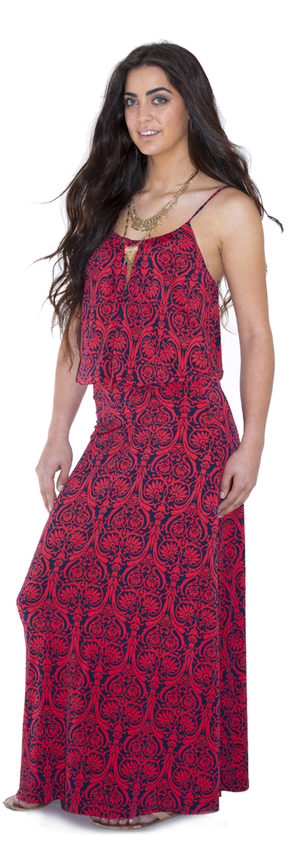 cosy dress red/navy