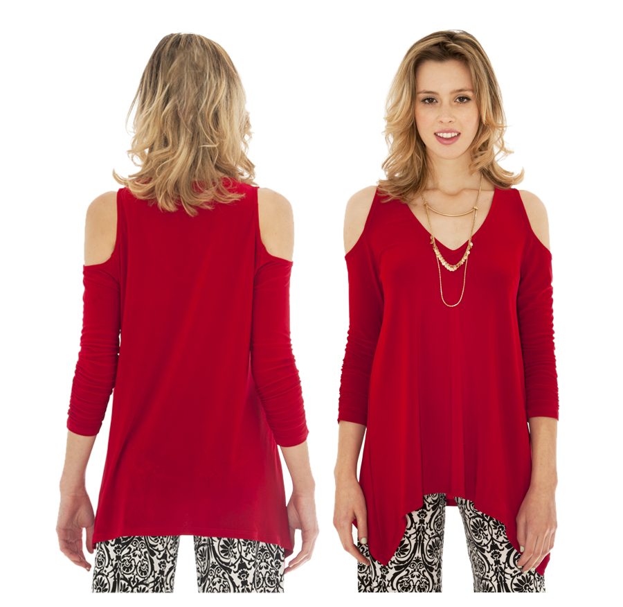 Cut-out Top | Red