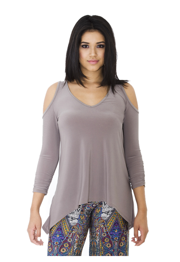 Cut-out Top | Taupe