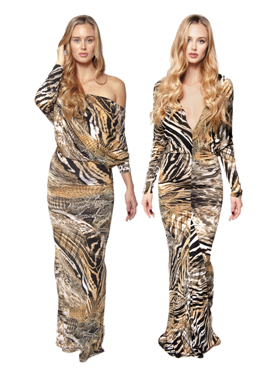 Jenny Dress  |  Exotic Print