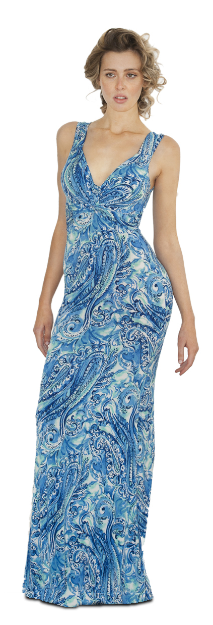 maddalena dress blue reef