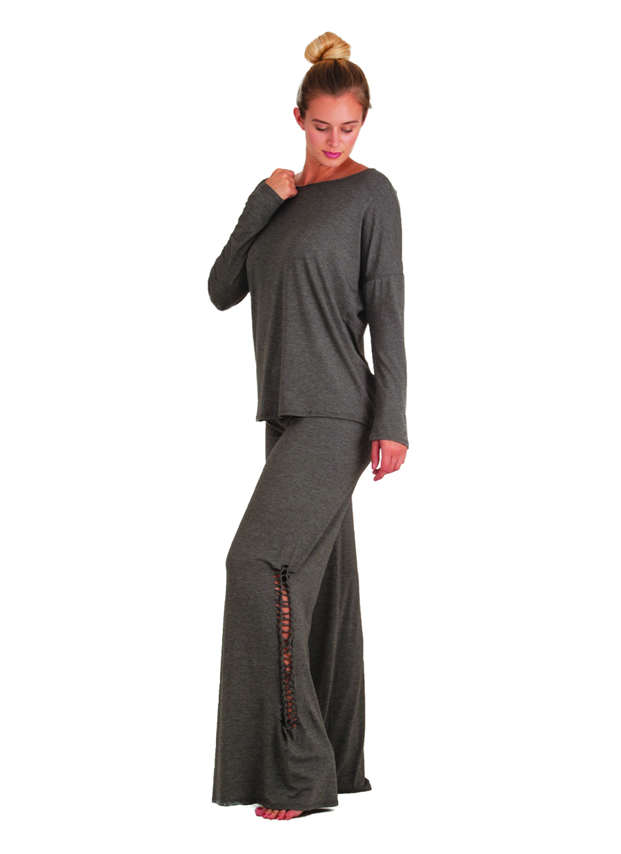 Agho Capri Pants | Gray