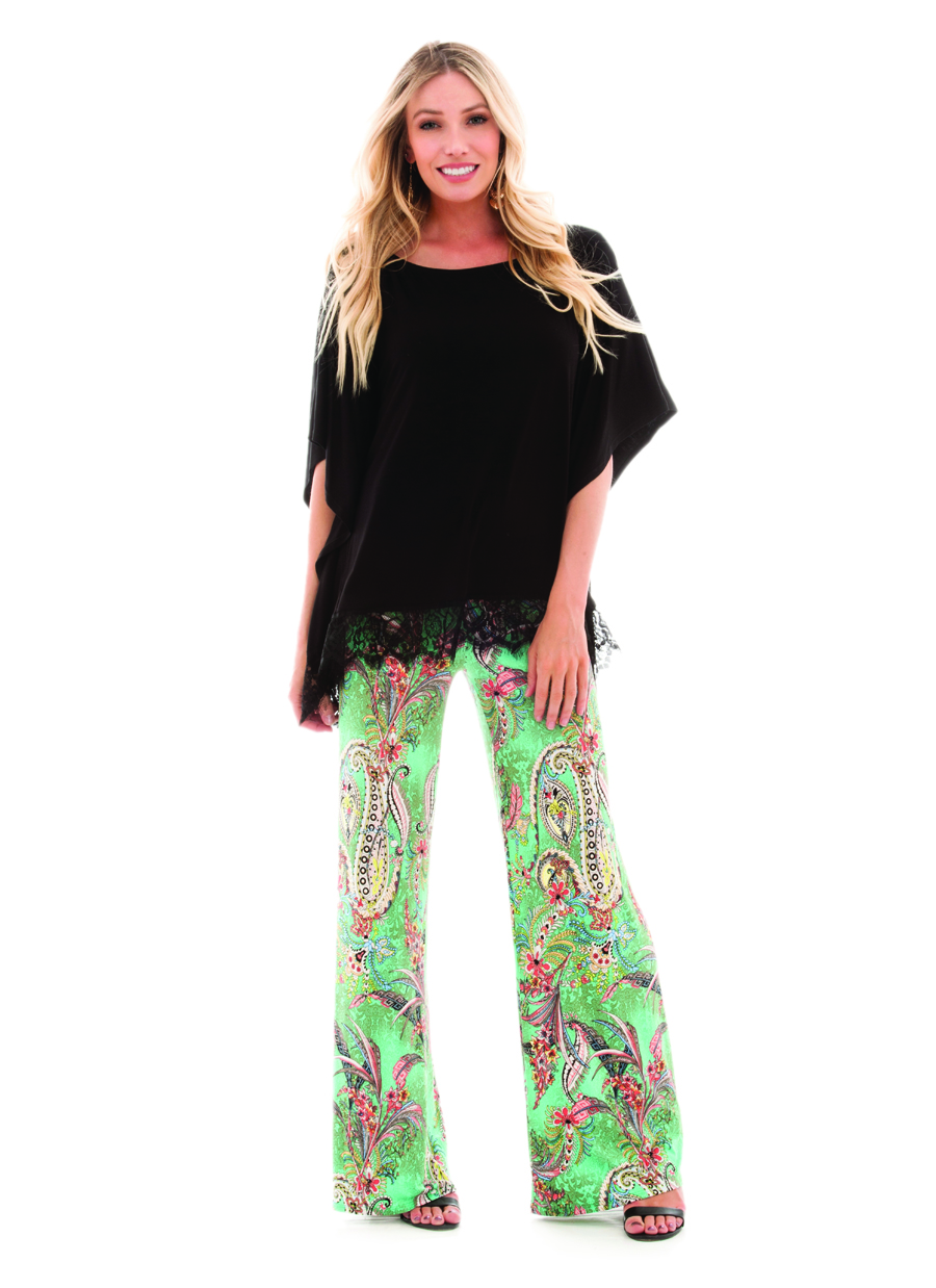 Palazzo Pant | Mint/Coral Gardens