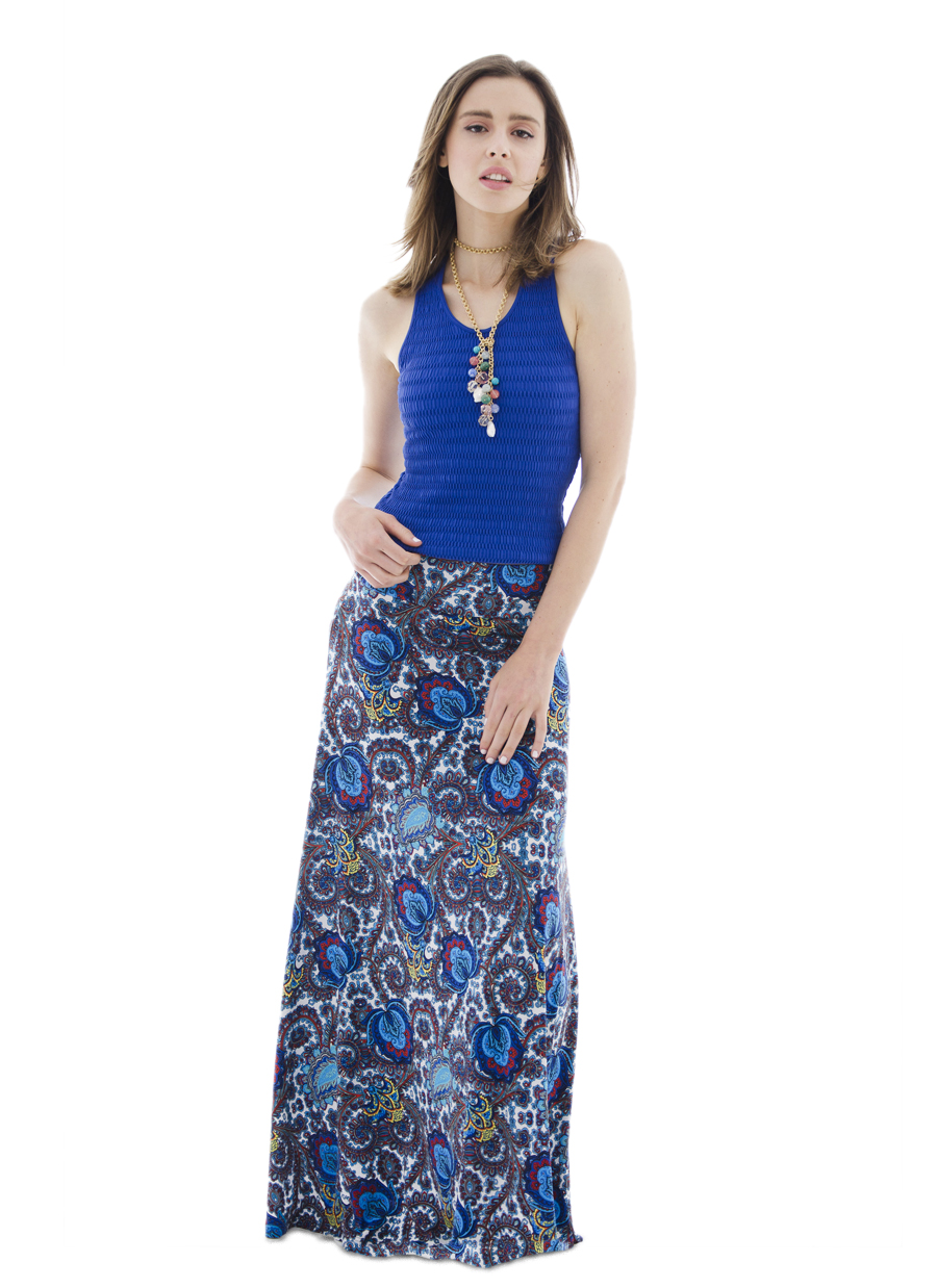 Maxi Skirt | Royal Tulips